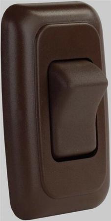 JR Products 12135 Multi-Purpose Single Rocker Switch - Brown