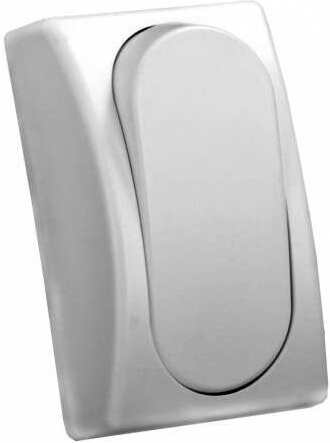 JR Products 13575 Modular Single Rocker Switch - White