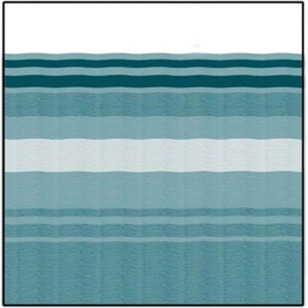 Carefree JU208C00 RV Awning Vinyl Fabric 20' - Teal Dune Stripe With White Weatherguard