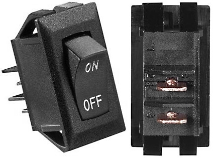RV Designer S269 10A DC Rocker Switch - Black With Silver Text Questions & Answers