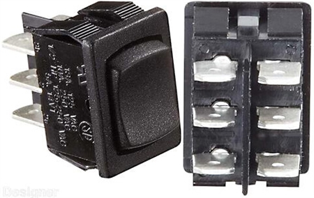 RV Designer S451 10A DC DPDT Rocker Switch - Black Questions & Answers