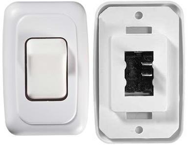 RV Designer S531 DC SPST Single Contoured Rocker Switch - White Questions & Answers