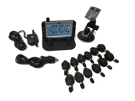 On this tire pressure monitoring system by TST, how far will signals travel?