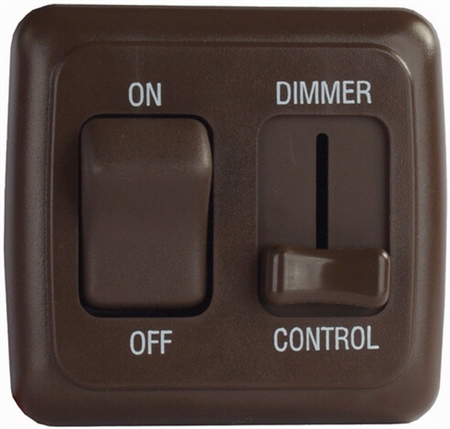 Valterra DGD3218VP Dimmer On/Off Rocker Switch with Bezel - Brown Questions & Answers