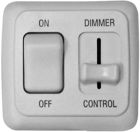 Valterra DGLD01VP LED Pulse Wave Dimmer On/Off Switch - White