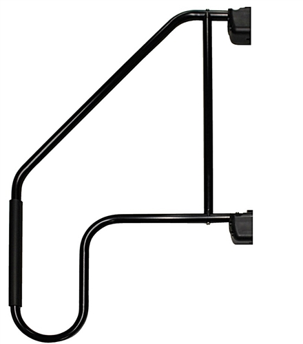 What is this hand rail metal, aluminum, steel? prone to rust?
