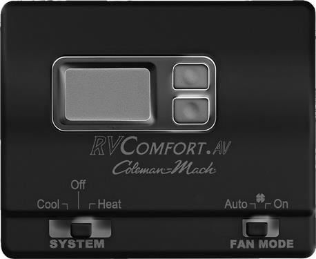 Coleman Mach 8530-3391 Digital Wall Thermostat for Heat & Cool Control - Black