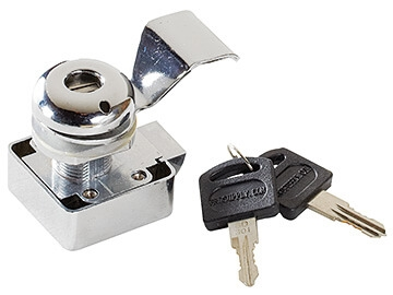 "RV Designer L600 Slam Cam Chrome Locking Cylinder - 3/4"""