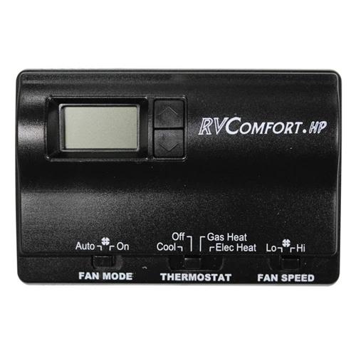 Coleman Mach 8530-3481 Digital Heat Pump RV Thermostat - Black