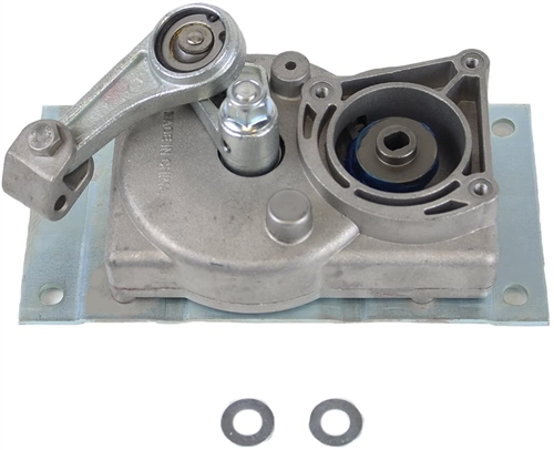 where do the two flat washers go in the gear box?