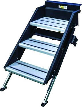 "Lippert 791572 SolidStep Fold-Down RV Triple Steps - 26-29-7/8"" Width"