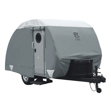 Classic Accessories 80-296-143101-RT OverDrive PolyPRO 3 Deluxe Cover Teardrop Trailers - Fits 8'