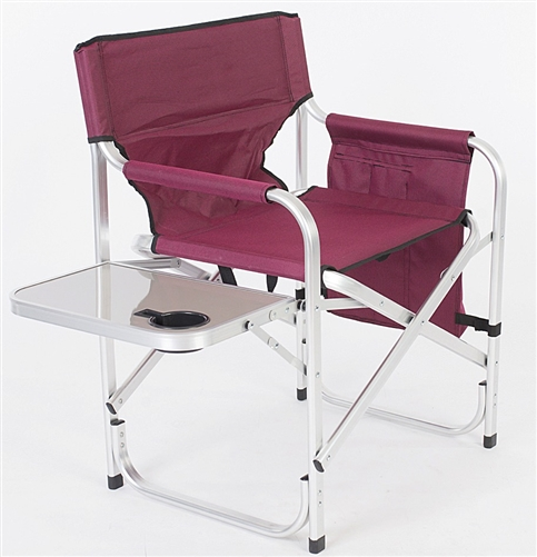 Faulkner 52283 Burgundy Director's Chair with Pocket Pouch & Folding Tray Questions & Answers