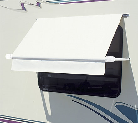Carefree WH0304F4FW Simply Shade RV Window Awning - 3' - White