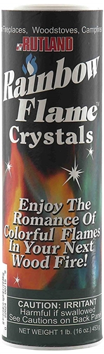 Rutland 715 Campfire Colorant Rainbow Flame Crystals Canister Questions & Answers