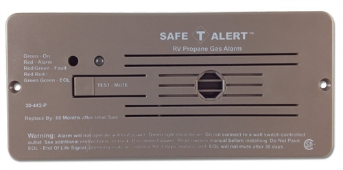 Safe-T-Alert 30-442-P-BR Classic 30 Series Propane/LP Gas Detector - Flush Mount - Brown Questions & Answers