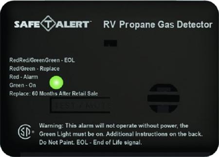 Safe-T-Alert 20-441-P-BL 20 Series Mini Propane/LP Gas Detector - Surface Mount - Black