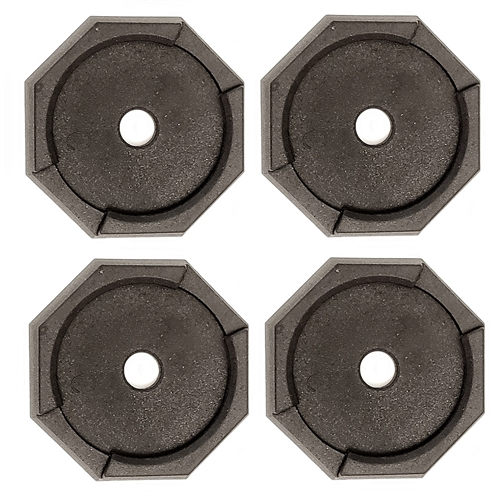 """RV SnapPad HiWay 8 Permanent RV Jack Pad 4 Pack - 8"""" HWH Leveling System"""