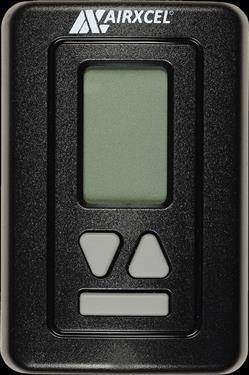 Coleman Mach 9630-3371 Digital RV Heat Pump Wall Thermostat with Plugs - Black