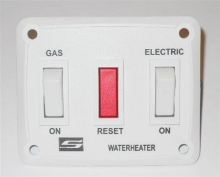 Suburban 232882 RV Water Heater Gas/Electric Wall Switch Assembly - White