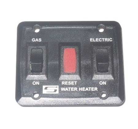 Suburban 233111 RV Water Heater Gas/Electric Wall Switch Assembly - Black