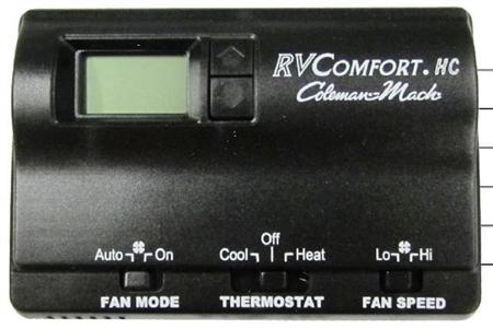 Coleman Mach 8330-3482 Digital Heat/Cool RV Thermostat - Black