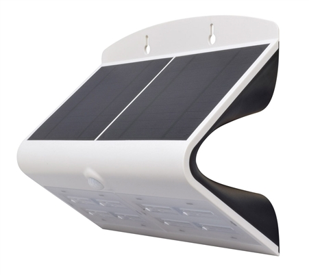 """How bright is the """"backlight"""" on the DG0168 Solar Powered LED Wall Light? Can it be turned off?"""