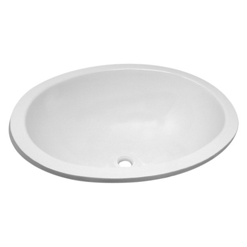 """Lasalle Bristol 16156PWA Oval Sink 10""""X13"""" With Cleanout Plug - White"""