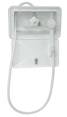 American Brass SHWRBOX-1-WHT Exterior RV Shower Box - White