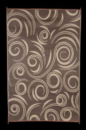 Faulkner 68862 Reversible RV Outdoor Patio Mat - Brown & Beige Swirl Design - 8' x 20' Questions & Answers