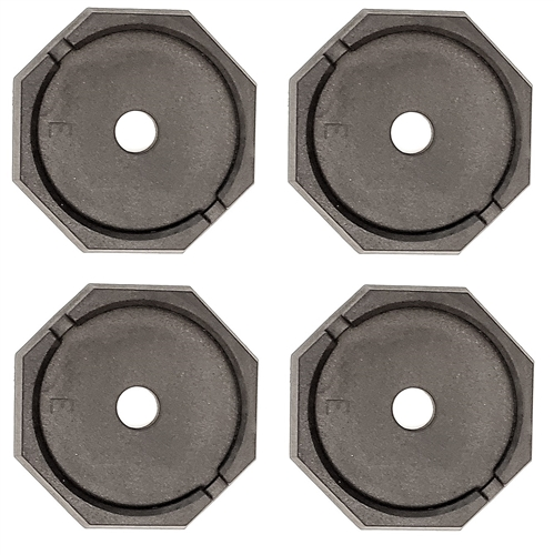 """RV SnapPad EQ-Round Permanent RV Jack Pad 4 Pack - 10"""" Equalizer Leveling System"""