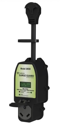 Surge Guard 34930 30-Amp Full Protection Portable Surge Protector with LCD Display
