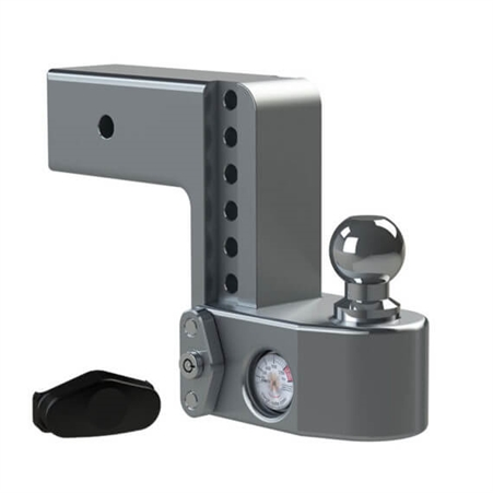 """Weigh Safe WS6-3 Adjustable Trailer Hitch Mount with Built-In Scale - 3"""" Length - 6"""" Drop - 7"""" Rise"""
