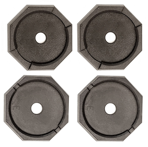 """RV SnapPad HiWay-Plus Permanent RV Jack Pad 4 Pack - 8"""" Front 10"""" Rear"""