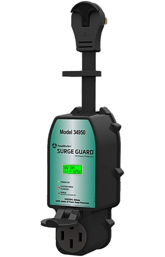 Surge Guard 34950 50-Amp Full Protection Portable Surge Protector with LCD Display