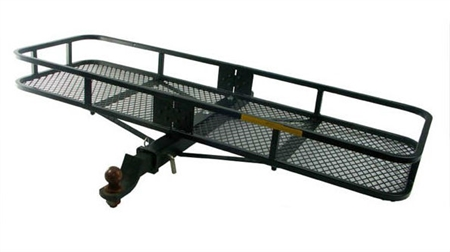 Can a hitch mount bike rack be used with the B-Dawg BD-60205-TO Towing St. Bernard Cargo Carrier?