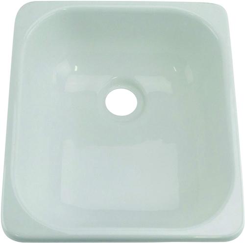 Lippert 209630 Better Bath Single Square Galley Sink - White