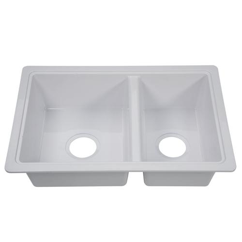 Lippert 809030 Better Bath Double Bowl Galley Sink - White