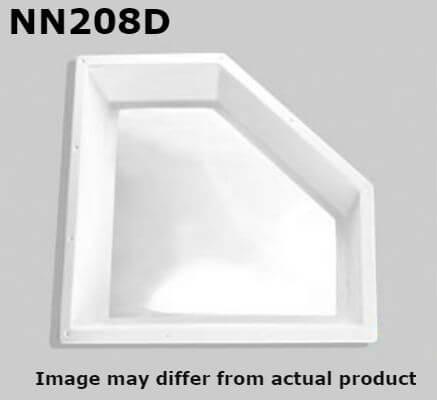 "Specialty Recreation NN208D Neo-Angle Inner RV Skylight 20"" x 8"" - Clear Bubble"