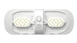 Ming's Mark 9090102 Double LED Bulb Dome Light Fixture