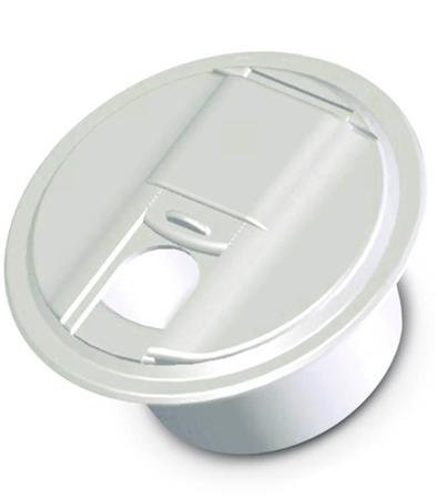 RV Designer B101 Round RV Cable Hatch Universal Style - Polar White