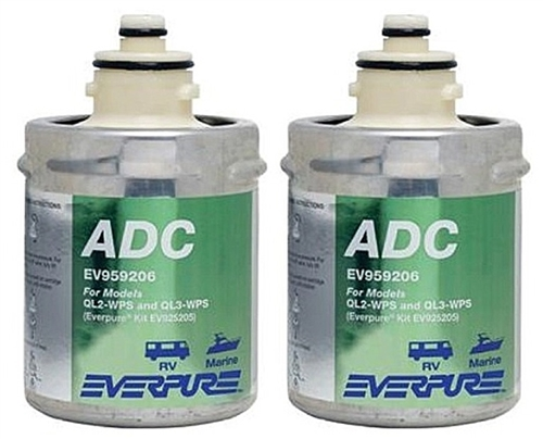 How many gallons of water will the Shurflo Everpure EV959207 filter before it needs replacing?