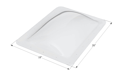 ICON 01819 RV Rectangle Skylight 18'' x 26'' - White Questions & Answers