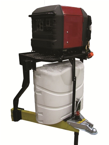 Is there a trailer tray version available to fit over taller 40 lb bottles?