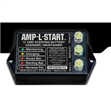 LSL Products AMP-L-START 15 Amp Starting Battery Charger Maintainer