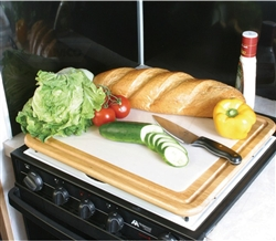 Camco 43753 RV Stove Toppers & Cutting Board - Oak