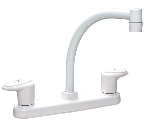 Catalina PF221202 Two Handle Hi-Arc Kitchen Pot Filler RV Faucet, White Questions & Answers