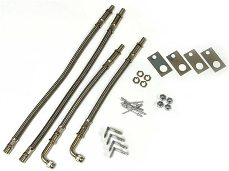 """Wheel Masters 82082 4 Hose Airless Valve Extenders For 16"""" To 19.5"""" Wheels Workhorse Chassis"""