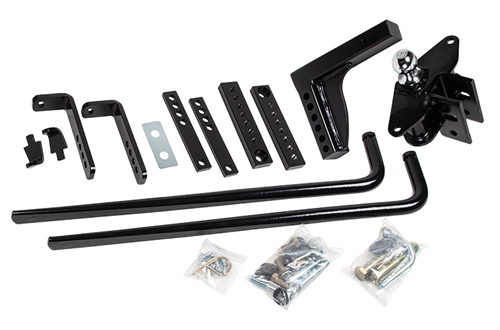How does this weight distribution kit offer sway control?