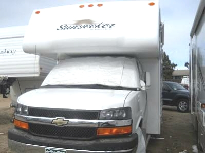 ADCO 2409 Windshield Cover For 2001-2020 Chevy Class C RVs With Mirror Cut-Outs